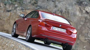 BMW 435i red rear