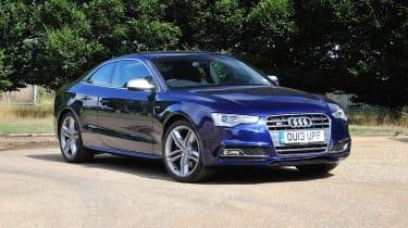 Audi S5 blue front end