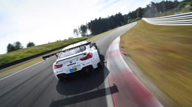 BMW M6 GT3 - rear driving shot