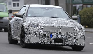 2022 BMW M2 spied road front quarter