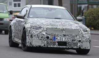 2022 BMW M2 spied road front quarter