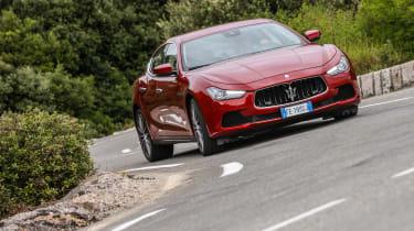 Maserati Ghibli 2016 - driving front red