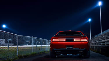 Dodge Demon night rear 1
