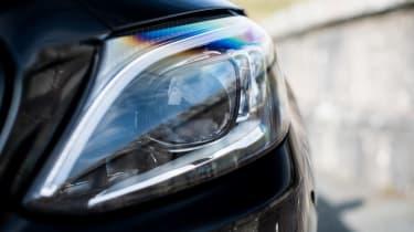 Mercedes-AMG C63 S Coupe black - headlight