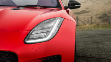 Jaguar F-Type four-cylinder - headlight detail
