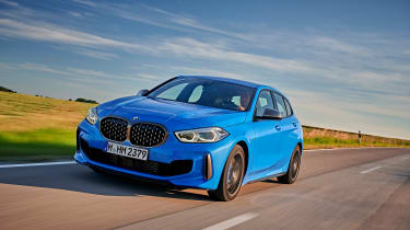 BMW M135i review 2019 - front quarter