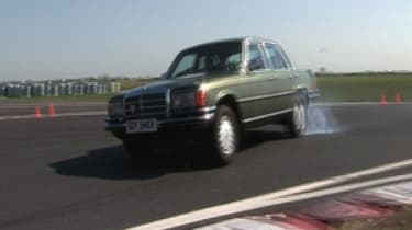 Mercedes-Benz 450SEL 6.9 on the test track