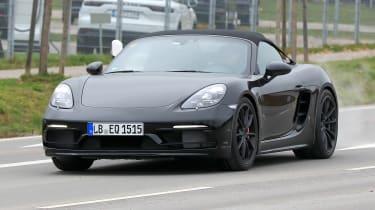 Porsche 718 Boxster Spyder Spies – front