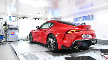 Litchfield Toyota Supra rear dyno
