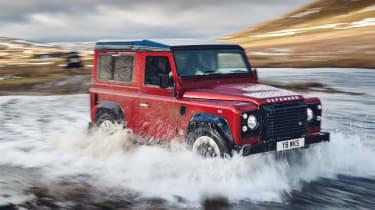 Land Rover Defender Works V8 – front quarter