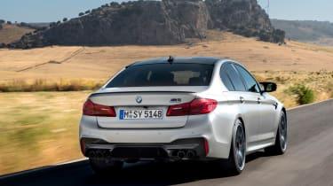 BMW M5 Competition review - rear quarter