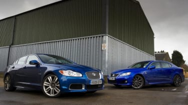 Jaguar XFR long term with Lexus IS-F