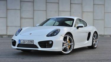 2013 Porsche Cayman S white front view