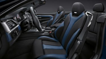 BMW M4 Convertible Edition - interior blue