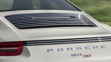 Porsche 911 50th Anniversary Edition chrome engine cover