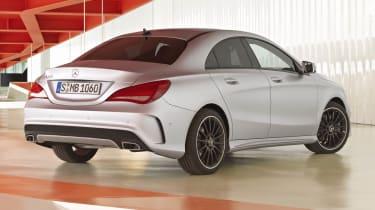 Mercedes-Benz CLA silver rear