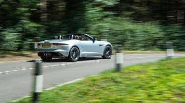 Jaguar F-type 400 Sport rear cornering