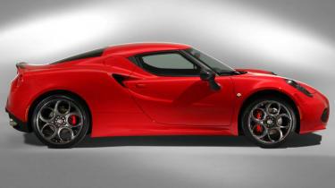 Alfa Romeo 4C Launch Edition Alfa Red side profile