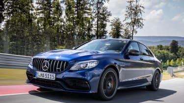 2019 Mercedes-AMG C63 – front quarter