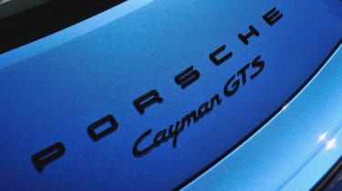 Porsche Cayman GTS badge spoiler