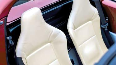 Lotus Elise S1 cream leather interior