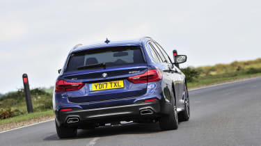 BMW 530d xDrive Touring cornering rear