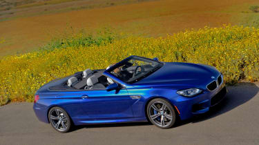 2012 BMW M6 Convertible roof down side profile