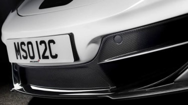 McLaren 12C MSO Concept carbon front splitter spoiler