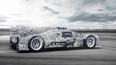 Porsche LMP1 Le Mans car rear