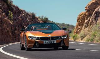 BMW i8 Roadster cornering