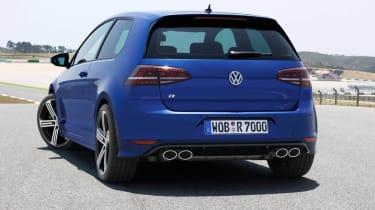 VW Golf R mk7 blue rear