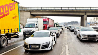 Audi R8 GT in Germany - front traffic