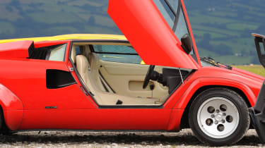 Lamborghini V12 group test Wales - countach