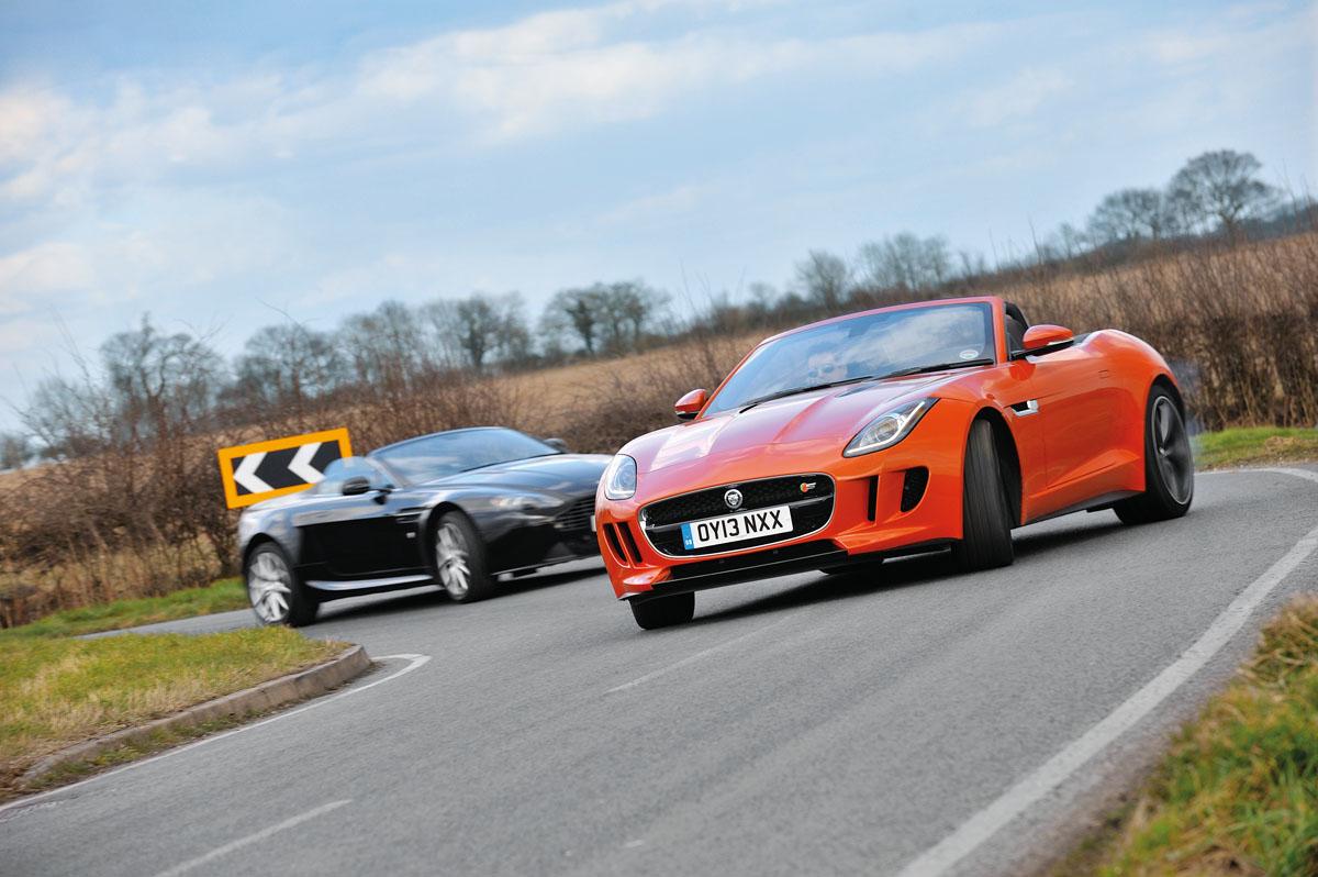 Jaguar F Type V8 S Vs Aston Martin V8 Vantage Roadster Evo