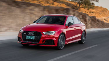 Audi RS3 Saloon Red front