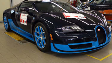 Bugatti Veyron Grand Sport Vitesse on the Mille Miglia video