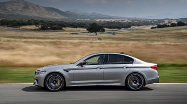 BMW M5 Competition review - profile