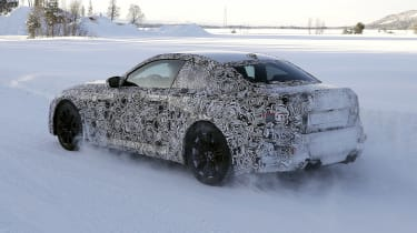 2022 BMW M2 spied rear quarter