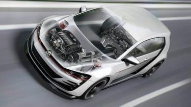 496bhp VW Golf Design Vision GTI cutaway engine illustration