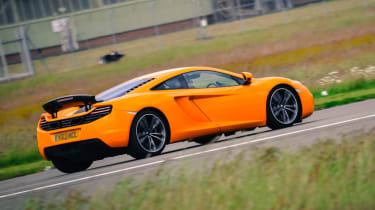 McLaren 12C on Top Gear test track rear