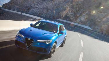 Alfa Romeo Stelvio QV drive - front tracking