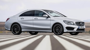 Mercedes-Benz CLA silver side profile