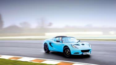 Lotus Elise S3 Club Racer drifting on track