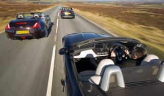 Nissan 370Z Roadster v Audi TT S v BMW Z4