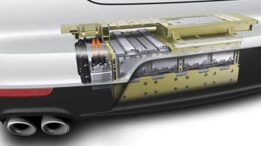 Porsche range: all-hybrid future batteries