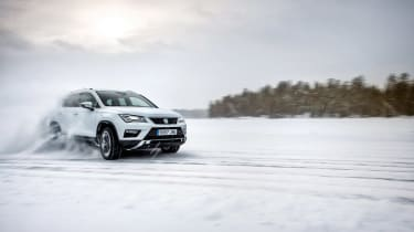 SEAT Ateca snow drift