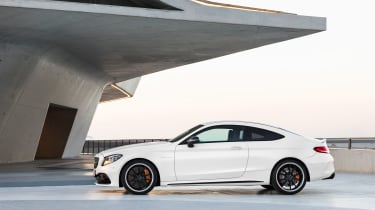 Mercedes-AMG C 63 S Coupe - white side