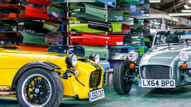 Caterham 160 and Caterham 620R - factroy floor