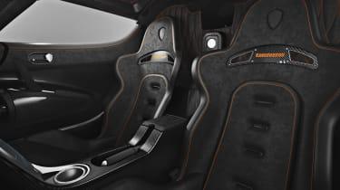 Koenigsegg One:1 supercar interior