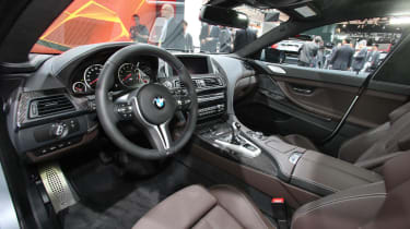 BMW M6 Gran Coupe at the Detroit show interior dashboard